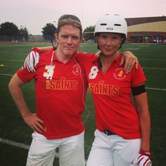 Alexander Van Riesen and Pernilla Verpers from STHLM Sanits in Woz Cup 2013, World Championship in Segway Polo, Washington DC