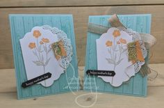 Mother\'s Day Flowers | Stampin\' Up! | Hardwood | Wild About Flowers | Teeny Tiny Wishes #literallymyjoy #flowers #mothersday #heatembossing #mom #mother #Casingthecatalog #20172018AnnualCatalog