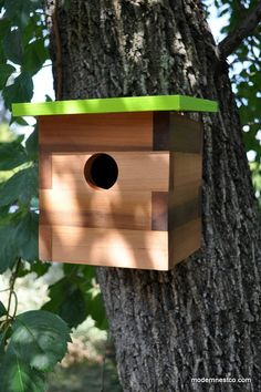 Modern Bird House - Swallow No.15 FREE SHIPPING. $69.00, via Etsy.