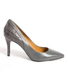 Look at this Charly Amar Gray Marriana Leather Pump on #zulily today!