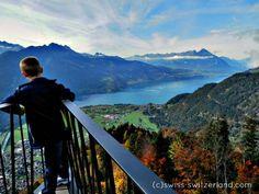 View from Harder Kulm to Lake Thun