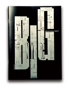 Design: BIG issue 'New York'. Art direction by Vince Frost. Book Design, Cover Design, Layout Design, Design Art, Print Design, Typography Letters, Graphic Design Typography, Typography Inspiration, Graphic Design Inspiration