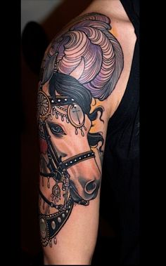 Carousel Horse Tat...  She's a beauty