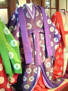 五衣唐衣裳 源氏物語と京都「六條院へ出かけよう」京都•風俗博物館出張展示@京都文化博物館別館2005/08/16〜09/10