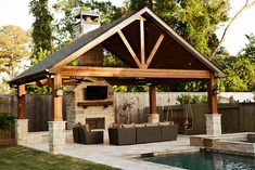 Wow love the outdoor living area next to this pool. A great place to entertain.