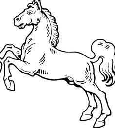 les dessins un cheval de mange types of horseshorse coloring pagesmustang