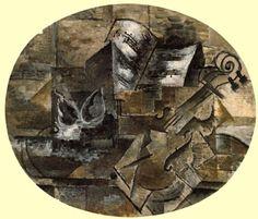 TICMUSart: Violin and Musical Score - Georges Braque (1910) (I.M.)