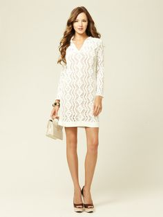 Sloane Crochet Knit Shift by Rachel Zoe