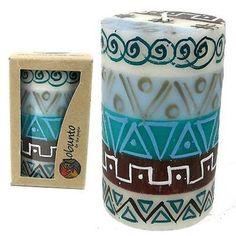 Single Boxed Hand-Painted Pillar Candle - Maji Design - Nobunto