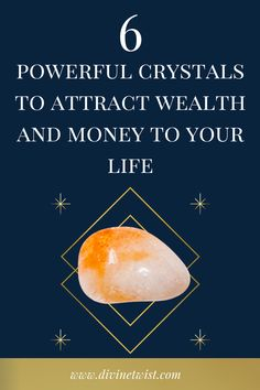 Want to know the best crystals to manifest wealth and money? These powerful stones will help you achieve more success, money and abundance. #crystalhealing Crystals For Wealth, Stones And Crystals, Lucky Stone, To Manifest, Abundance, Attraction, Finance, Law, Success