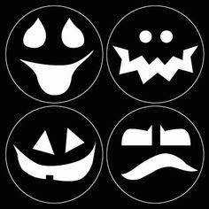 Grinning Ghouls Stencil   great for smaller pumpkins or painted jars
