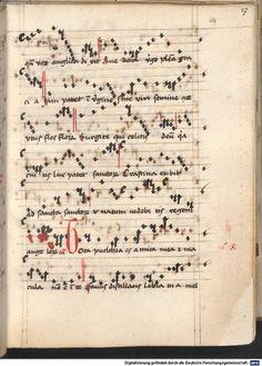 Cantionale, Geistliche Lieder mit Melodien. Münchner Marienklage Tegernsee, 3. Drittel 15. Jh. Cgm 716  Folio 27