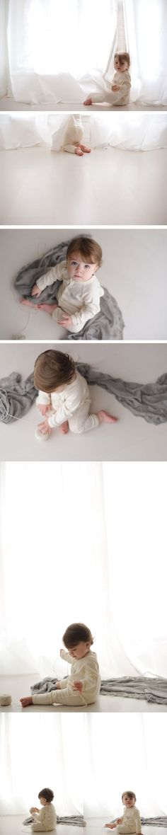 Natural light studio baby session. Fort Worth Baby Photographer Copyright Lane Proffitt Photography