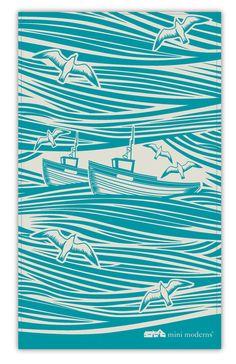 Whitby tea towel, via Mini Moderns