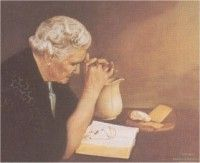 Gratitude, Old Woman by Jack Garren. Hard to find matching image to Grace- Old man praying at table