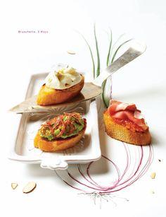 Bruschetta 3 ways from Sweet Paul magazine (recipe page 83)