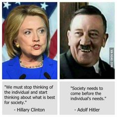 Liberal dems are the true Nazis. They are for gun control, Hitler was for that. They are for big government, Hitler was for that. They are for socialism, Hitler was for that. Liberal Hypocrisy, Liberal Logic, Crooked Hillary, Political Quotes, Political Topics, Political Cartoons, Conservative Politics, Funny Politics, Humor