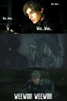 We Love Gaming , Wee woo. Video Game Memes, Video Games Funny, Funny Games, Video Game Art, Funny Videos, Resident Evil 3 Remake, Resident Evil Game, Devil May Cry, Evil Meme