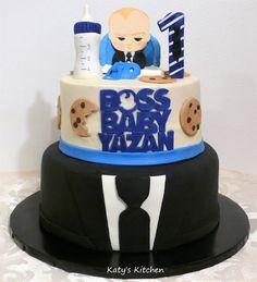 Katy's Kitchen: Boss Baby 1st Birthday Cake Baby Boy 1st Birthday Party, Boss Birthday, Baby Birthday Cakes, Baby Boy Cakes, Birthday Ideas, Boss Baby, Baby Shower, Pastel, Cedar Rapids