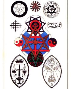 Aleister Crowley's magical seals. From Kenneth Grant's Carfax Monographs. #magick #aleistercrowley #occult #thelema #witch #witchesofinstagram