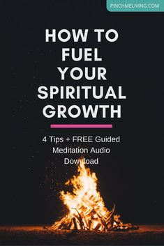 "If you want spiritual growth – to heal, to learn, to grow and to walk your soul path into your highest potential, there are ways you can fuel that spiritual growth. Click through for 4 tips to help you leverage your growth, plus get the free ""Speak to Your Soul"" guided meditation audio download https://www.pinchmeliving.com/spiritual-growth/"