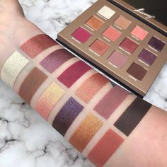 12 shades of pure pigmented magic ✨ Who else is obsessed with these astonishing swatches by @swayzemorgan? ✋Get your Dreamy Palette on nablacosmetics.com and at our authorized retailers ♥️ #crueltyfree #vegan #nabla #nablacosmetics