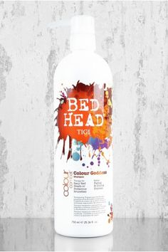 Tigi Bed Head Colour Goddess Shampoo- keeps my red hair vibrant and hydrated! It smells amazing as well