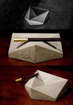 Handmade Geometry Concrete Cigar Cigarette Ashtray