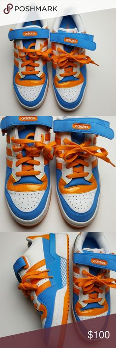 detailed look 73cbf 0d6b1 Adidas Forums Orange and Blue Size 9.5 Mens Orange and Blue Adidas Size 9.5  Mens shoes are in excellent condition no flaws adidas Shoes Sneakers