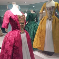 Mid-18thc dresses from Fashion Museum, Bath *I know, too early for this folder but I don't have one this early yet*