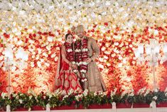 Shivani & Sonit Unique Wedding Story Of Establishing Their Unique Bond In Unique Way! Wedding Outfits For Groom, Wedding Groom, Heavy Red, Red Lehenga, Amazing Decor, Lehenga Designs, Invitation Card Design, Groom Outfit, Beautiful Stories