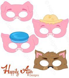 Three Little Pigs Printable Masks