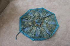 Broken umbrella turned into a tote!