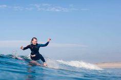Une petite session avec Coline et l'association Elles Surf - crédit photo : Thomas Martin