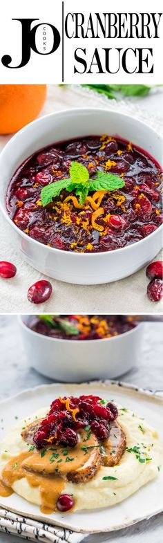 Your Thanksgiving table is not complete without this cranberry sauce made from scratch. A hint of nutmeg, lots of orange zest and a bit of vanilla complete this incredible cranberry sauce.