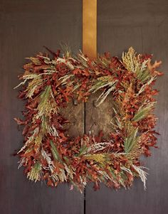 Get inspired by the changing of seasons and use fresh fallen leaves as the star of your wreath.
