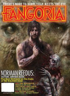 "First look: ""WALKING DEAD's"" Norman Reedus portrait on FANGORIA #338 cover / Fronting the mag is a eye-popping portrait of THE WALKING DEAD hero Norman Reedus by top artist Nick Percival, tying in to an in-depth interview with the actor about his craft and characters."