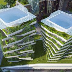 Architect, Vincent Callebaut, has devised a masterplan to transform Rome's military district into a self-sufficient urban ecosystem. The proposal is covered with edible plants that are intelligent, self producing & organic. Roofs & balconies become the new grounds of a green city, while the orchards & food gardens become the primary structures that dominate the site.