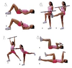 Body bar exercises  Scroll down for instructions