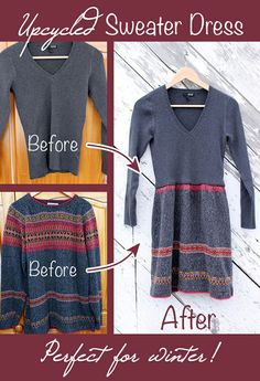 Who doesn't want to wear comfortable sweaters all the time? Now you can make a cozy, comfy dress! DIY This is fabulous, @Beth Huntington!