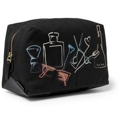 Paul Smith Shoes & Accessories Leather-Trimmed Printed Canvas Washbag