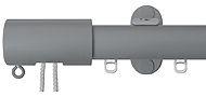 Renaissance 28mm Distinction Corded Metal Curtain Pole Dove Grey, Barrel