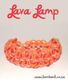Lava lamp loom band bracelet tutorial
