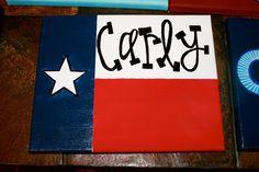 b.krafty: Texas flag canvas!