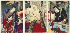 Cat Monster of Okazaki, 1887 by Chikanobu (1838 - 1912)