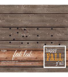 Fab Lab™ Autumn Craft Wood Light Kit Fall Y'all