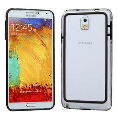 Samsung Galaxy Note 3 Black/Transparent Clear MyBumper Phone Case Cover :: CellPhoneCases.com
