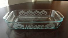 CCM Paper Designs: Easy Glass Etching. Identify your potluck dish.
