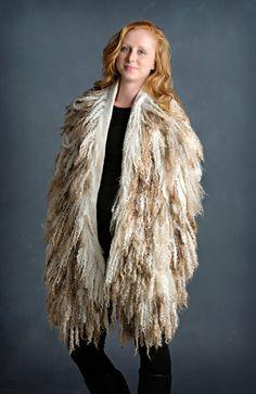 Wool Locks Shawl by Robbin Firth