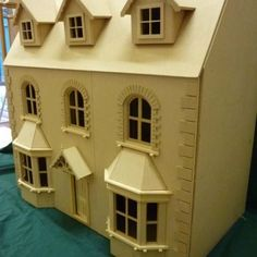 The Grange Victorian has 6 rooms with central stairs. A victorian style house with lower floor bay windows and floor arched windows with brick surrounds. Bay Windows, Arched Windows, Diy Gifts For Kids, Diy For Kids, Doll Houses, Victorian Fashion, Brick, Stairs, Miniatures